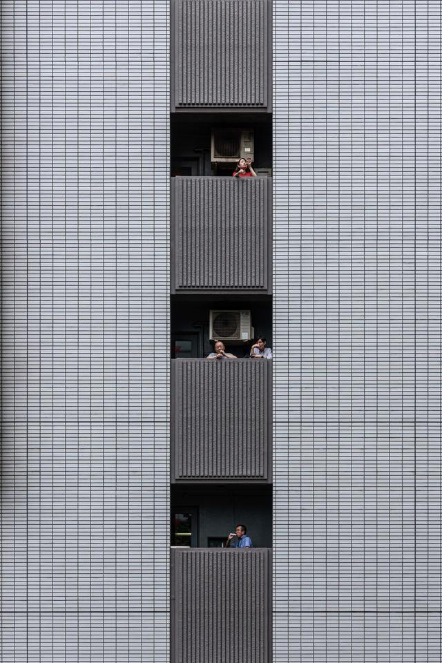 Yi-Hsien Lee from Taiwan took this photograph of an office building in Tokyo. It was entered into the Buildings in Use category