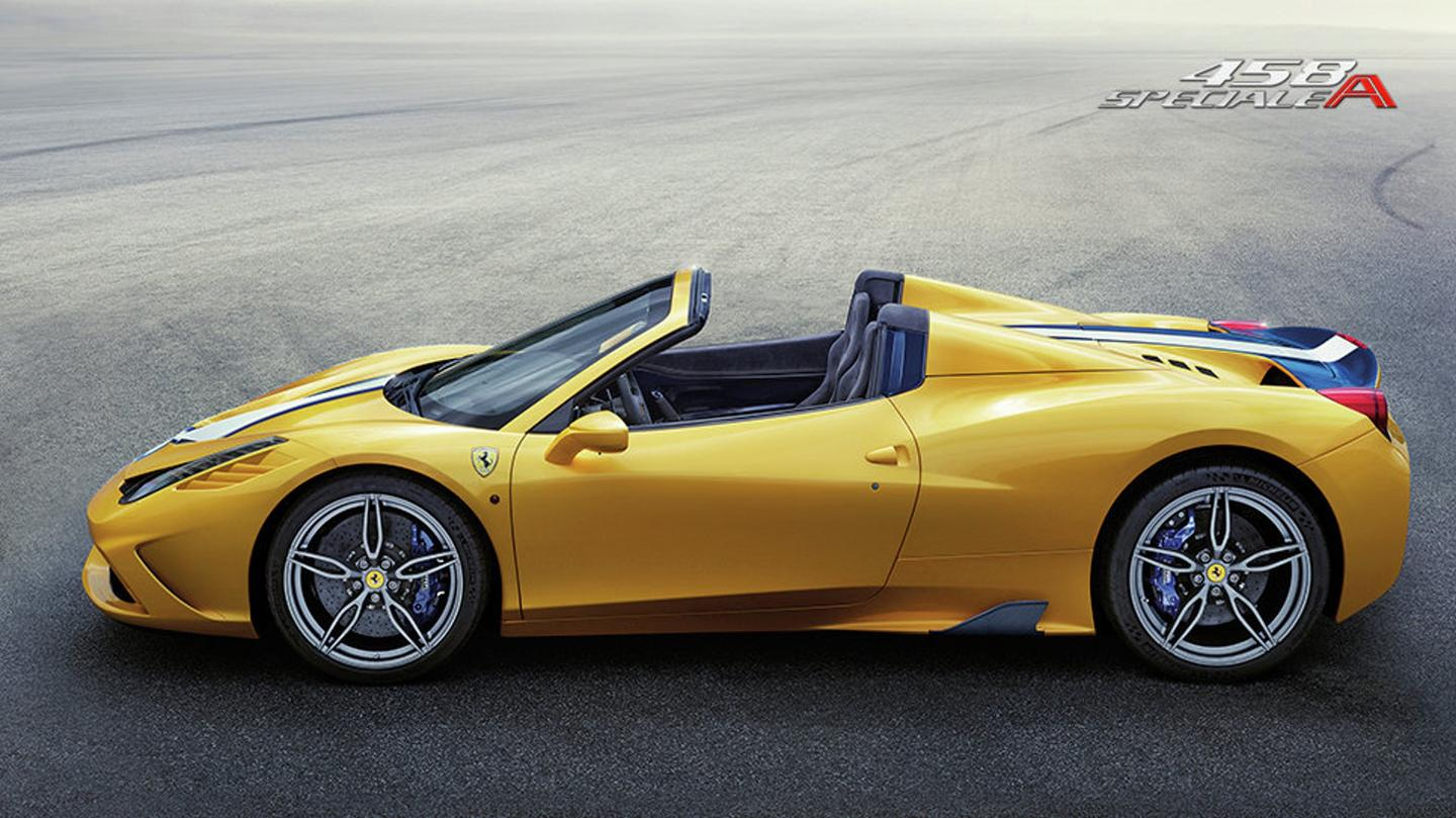 The 458 Speciale A can deploy its top in 14 seconds