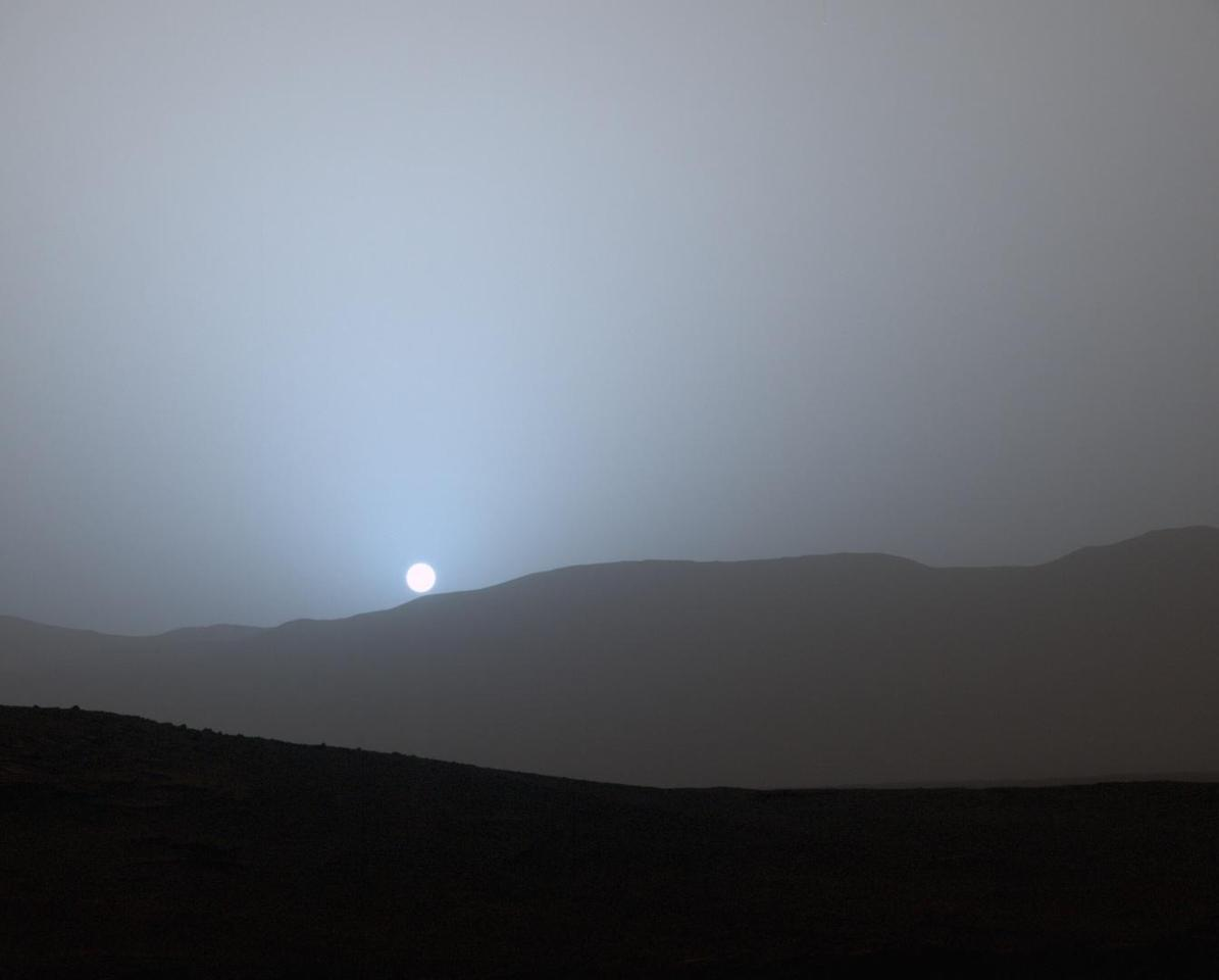 This view of the Sun setting on Mars as taken by NASA's Curiosity rover may one day be shared by a permanent human colony (Image: NASA/JPL-Caltech/MSSS)