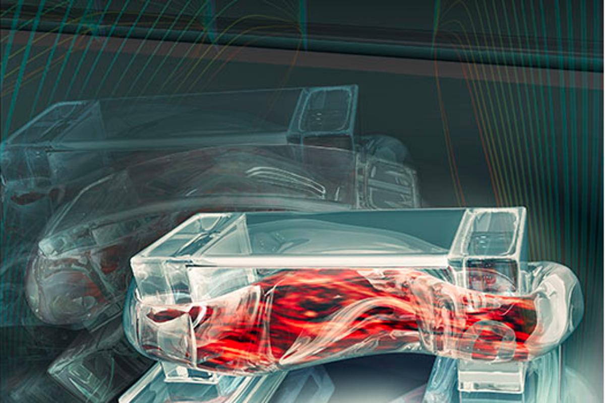 The University of Illionois has demonstrated a bio-robot built from a flexibly hydrogel spine and a piece of spinal muscle that can walk along in response to an electrical pulse (Graphic byJanet Sinn-Hanlon, Design Group@VetMed )