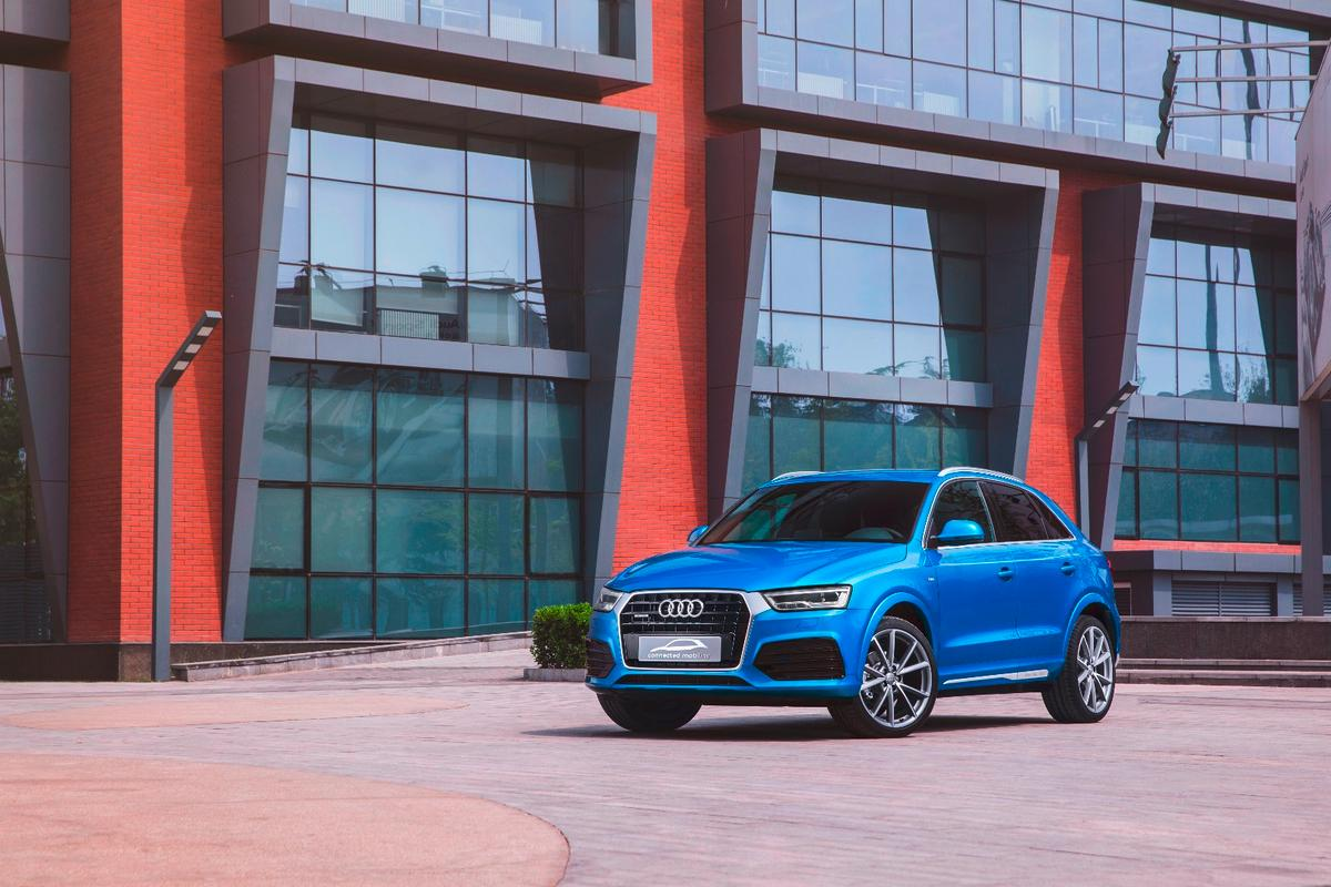 The new Audi connected mobility concept is based on the Q3 crossover