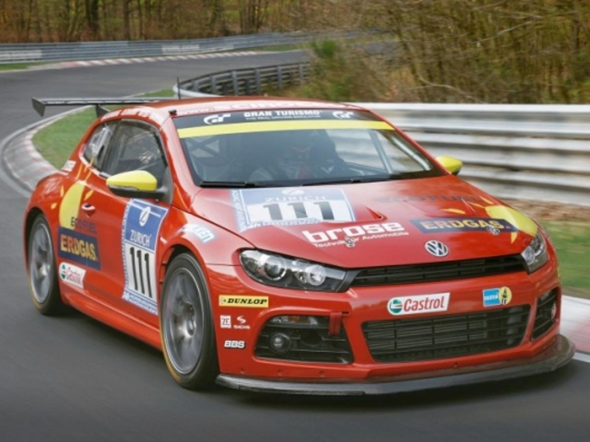 Up for the challenge: VW is planning to put its EcoFuel engines to the test on the world's most demanding race track