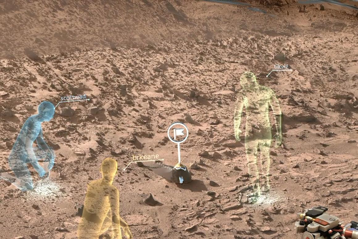 OnSight will use holographic computing to overlay visual information and data into the user's field of view (Image: NASA)