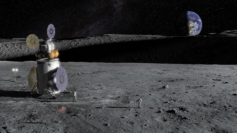 Artist's concept of a future lunar lander