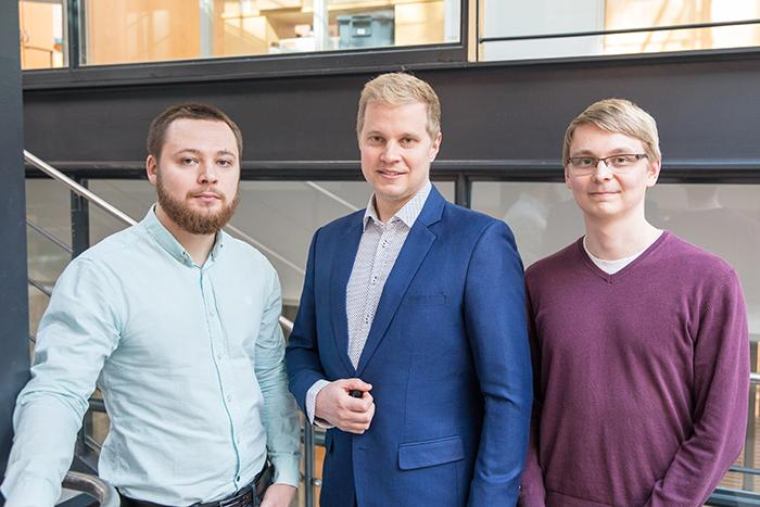 Aalto researchers on the project, from left: Konstantin Tiurev, Mikko Möttönen, and Tuomas Ollikainen