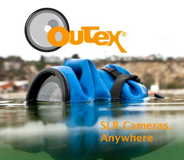 The Outex weather and waterproof housing system can protect your DSLR to a depth of 10 meters (33 feet)