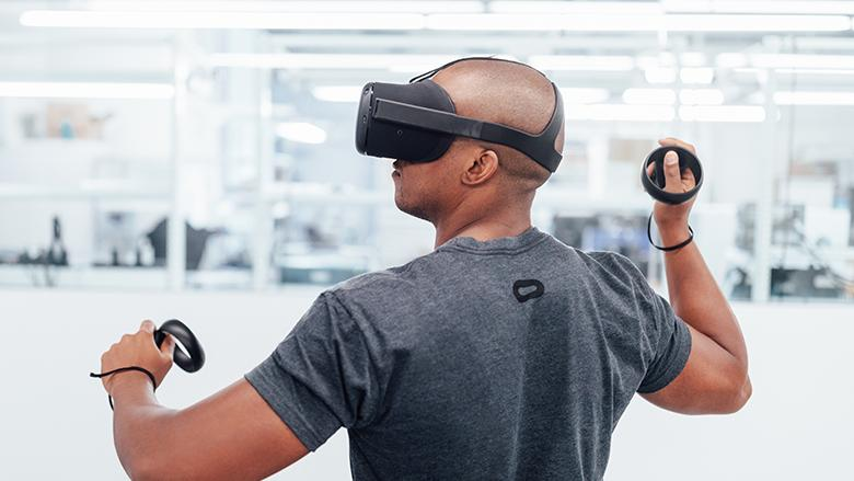 Oculus also showed an update on the Santa Cruz project, revealing the new controllers that will work with the Rift-equivalent standalone VR system