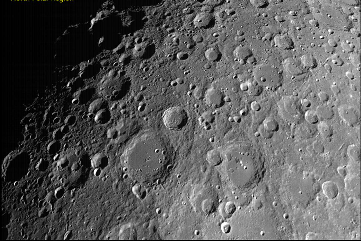 An image of the lunar surface snap