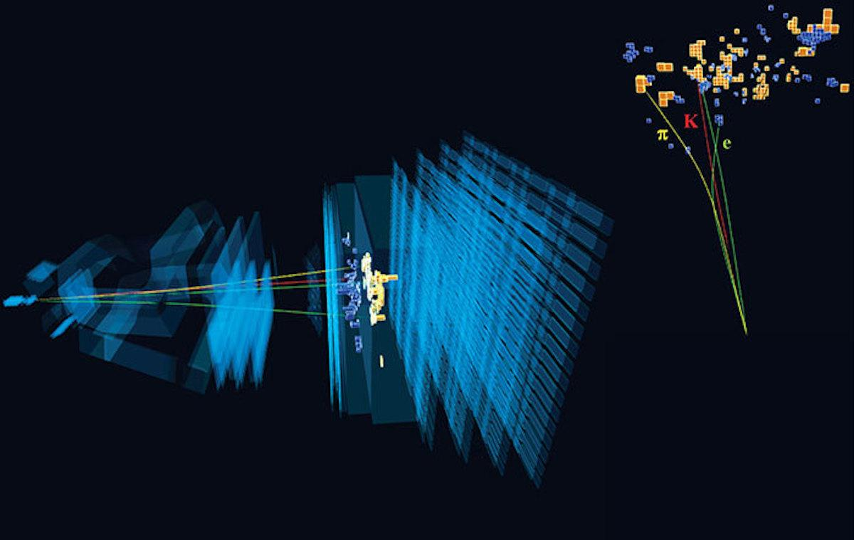 A diagram of an unusual particle decay that may hint at unknown physics
