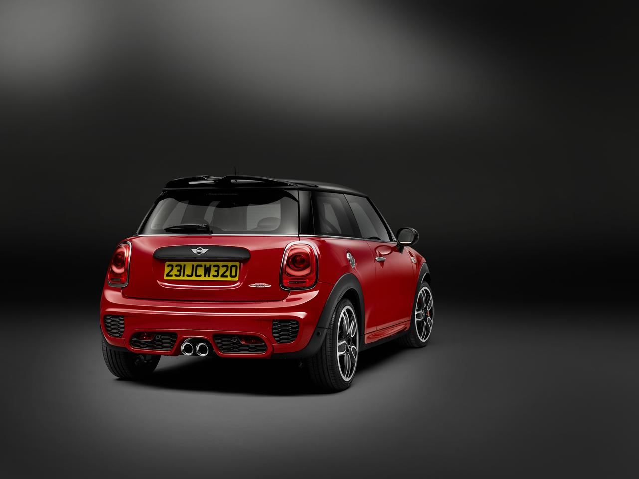 The JCW is fitted with a new rear bumper and spoiler