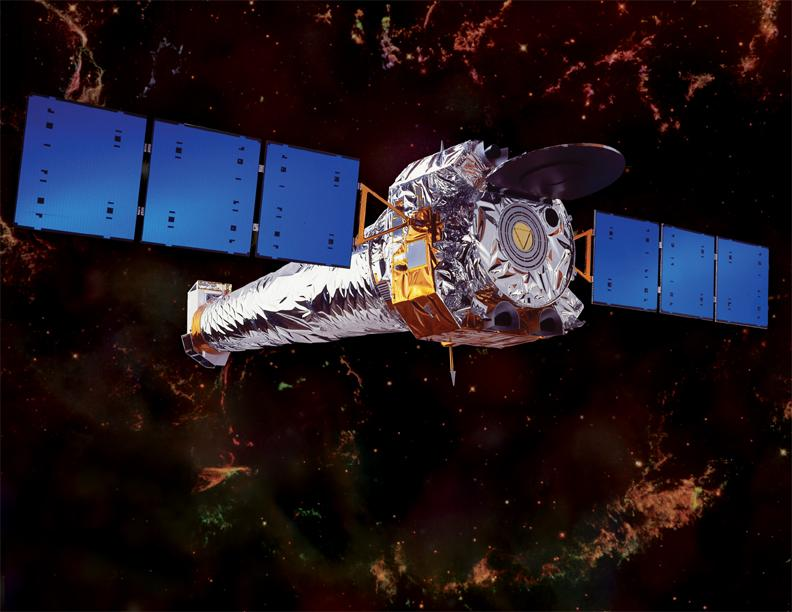 Artist's impression of the Chandra X-ray Observatory (Image: NASA/CXC/NGST)