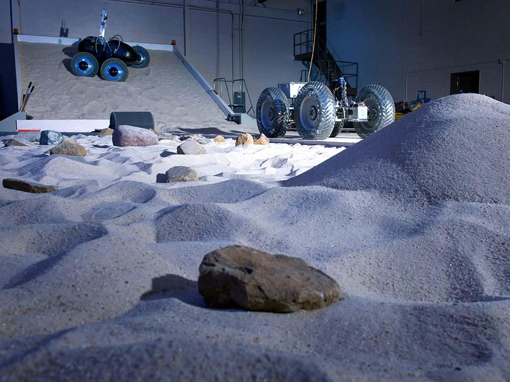 A simulated Mars test track