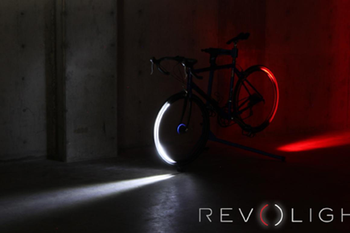 Revolights use a motion tracking system and series of LEDs to light up