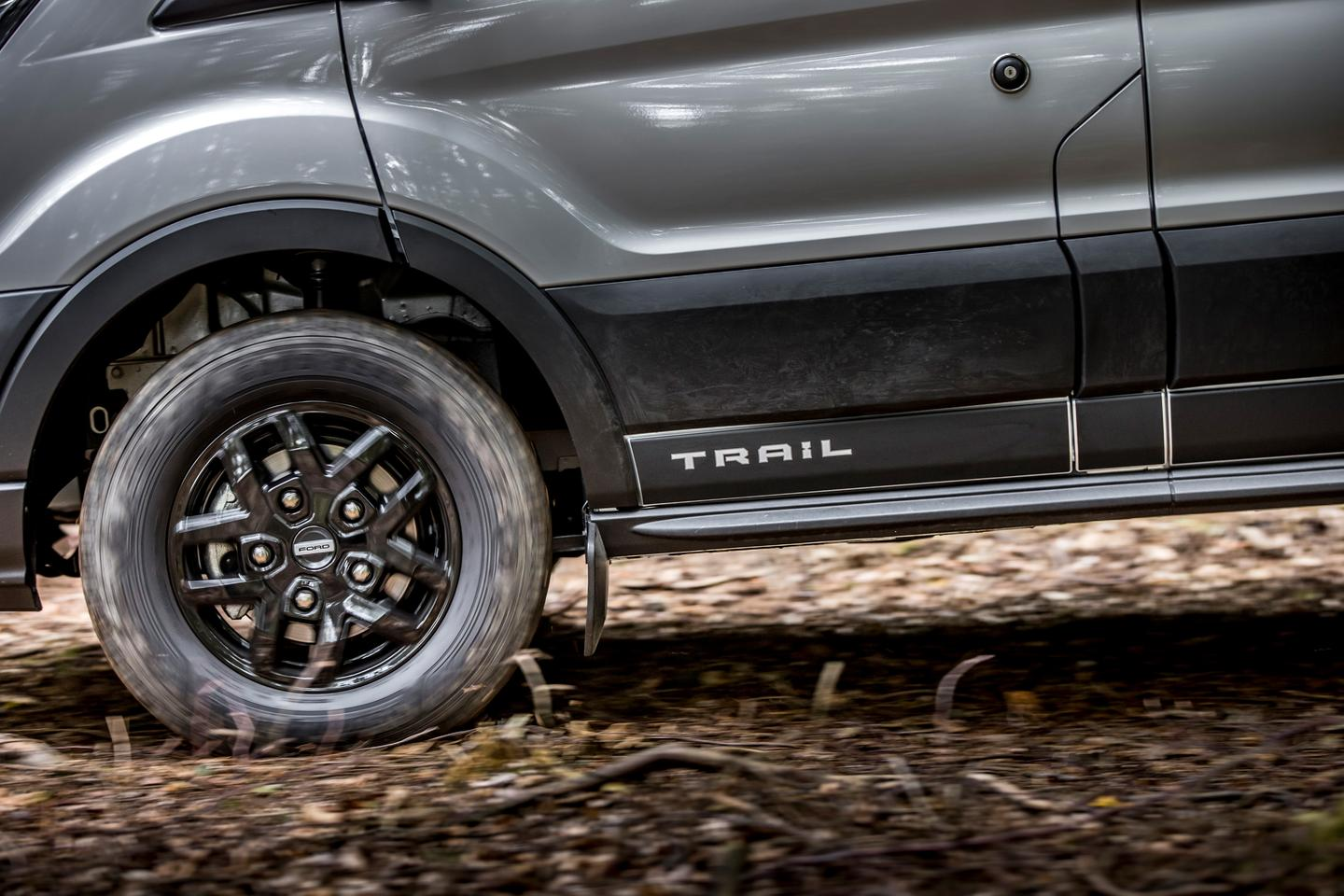 """The """"Trail"""" package brings a limited-slip front differential, 16-in black alloy wheels, FORD grille, and other interior and exterior upgrades"""