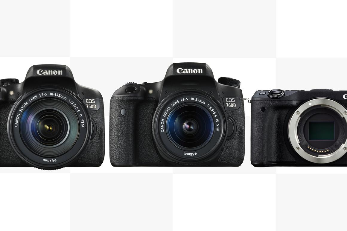 Canon reveals two entry-level DSLRs and a new mirrorless camera