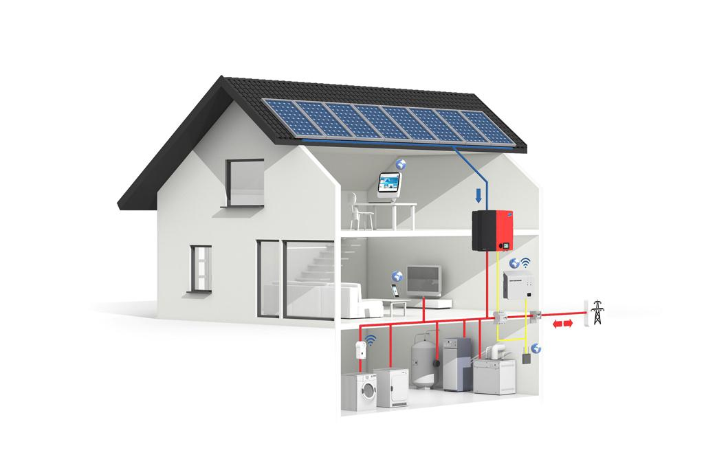 During sunny months, it uses a rooftop-based solar-thermal array, which feeds hot water into a central heating system, via storage tank (Photo: Miele)