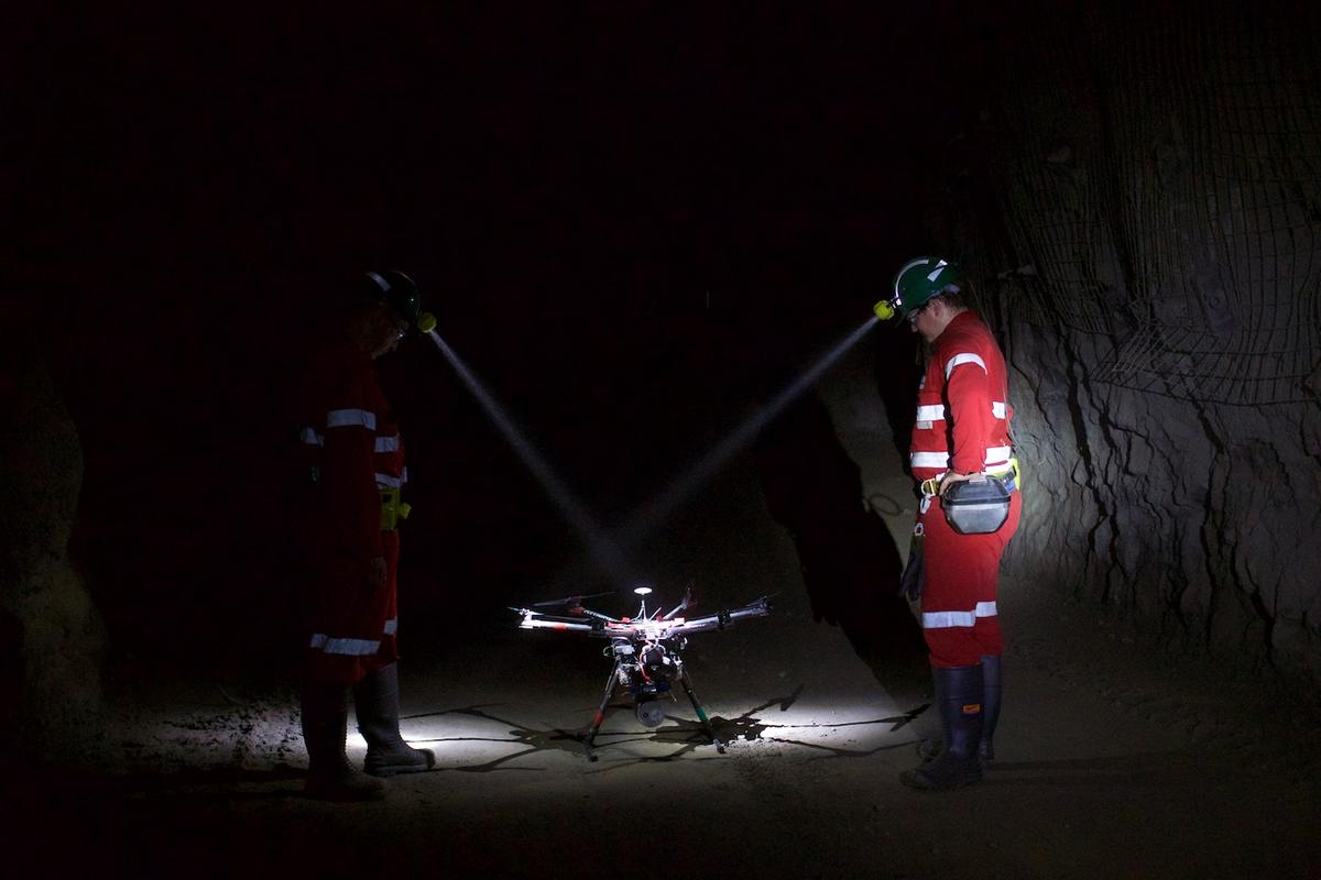 The imaging and mapping potential of drones flying high above the ground is well enough documented, but theyalso hold great potential for environments deep beneath the Earth's surface