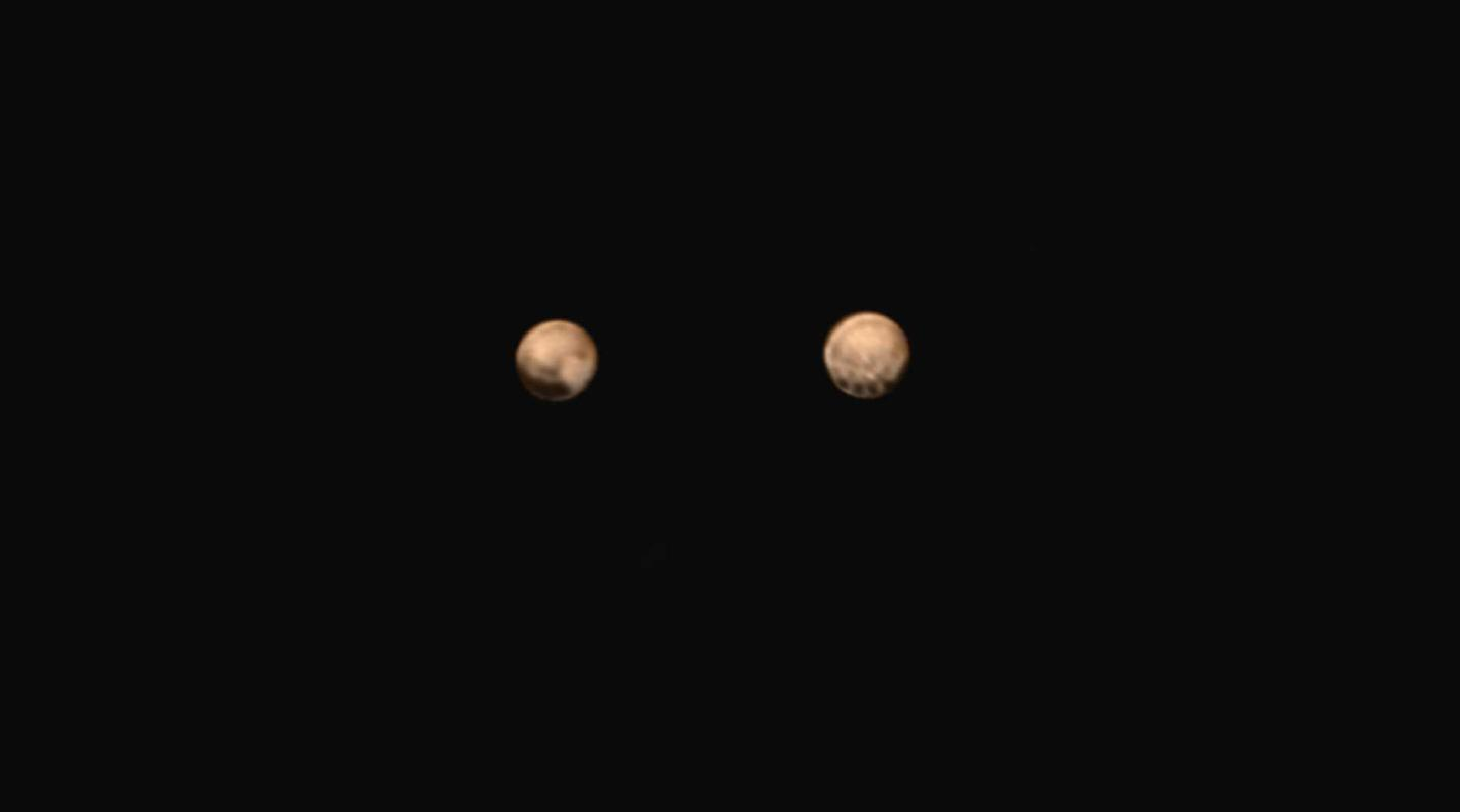The latest images returned by NASA's New Horizons probe has depicted a line of spots along Pluto's equator