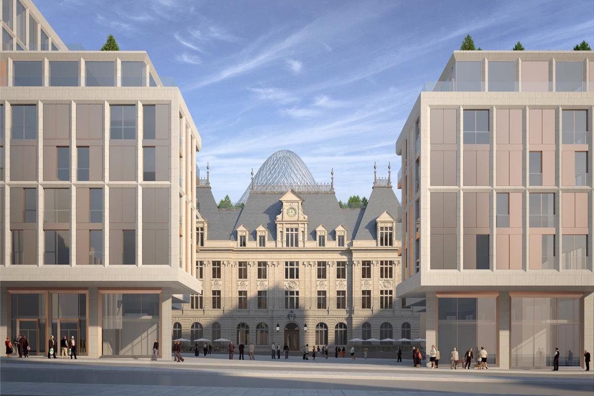 Paris-based Vincent Callebaut has unveiled his latest project: a sustainable makeover of Luxembourg City's Hôtel Des Postes