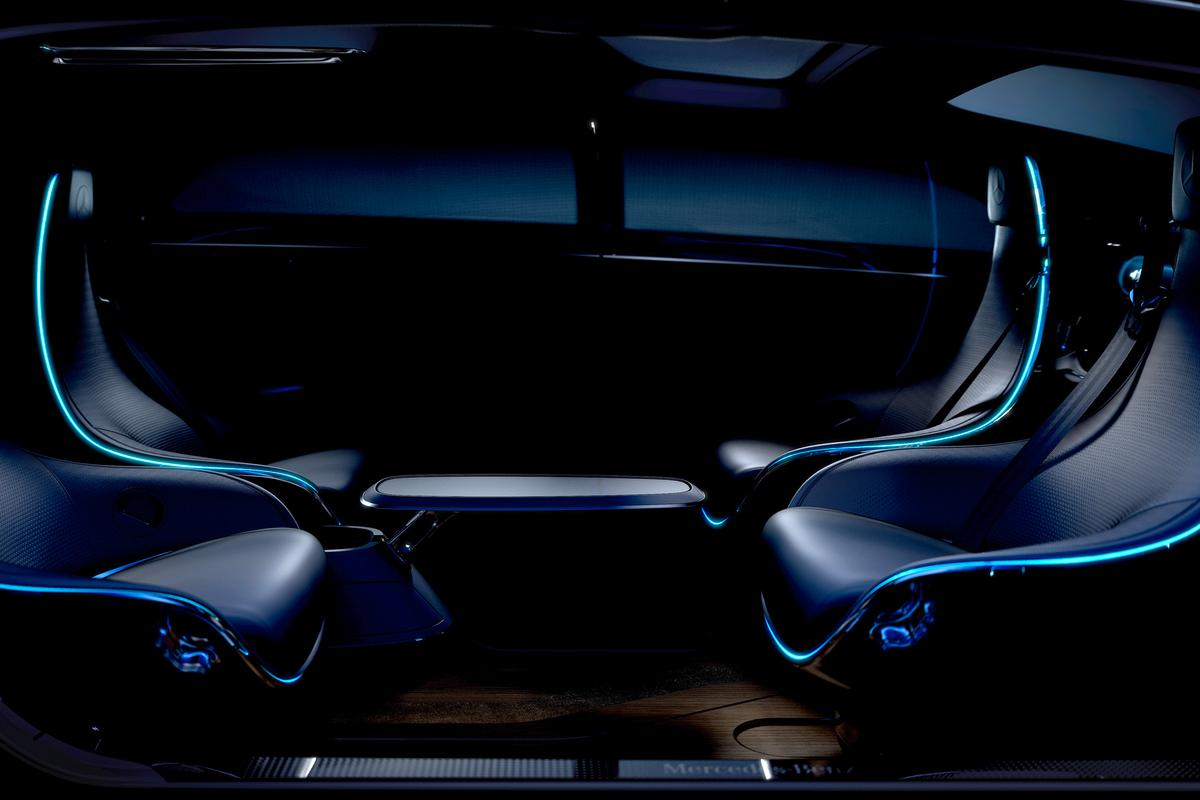 According to Mercedes, self-driving cars may include features such as seats that can be turned to face one another