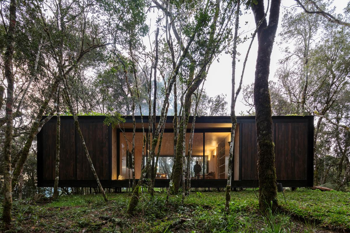 The Curucaca is located in a small forest clearing in southern Brazil