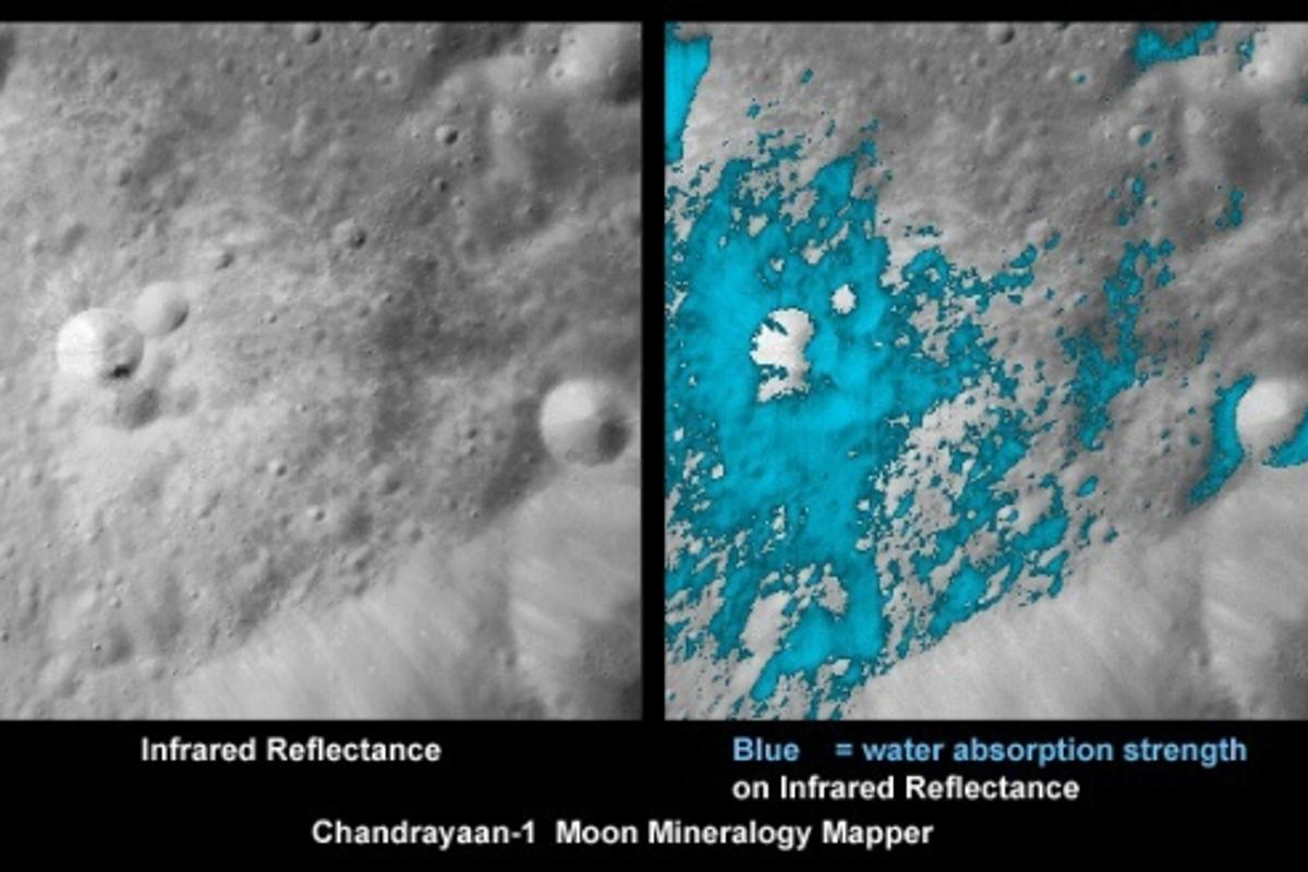 Data from three space missions has shown that water molecules exist on the moon's surface(Images: ISRO/NASA/JPL-Caltech/USGS/Brown Univ.)
