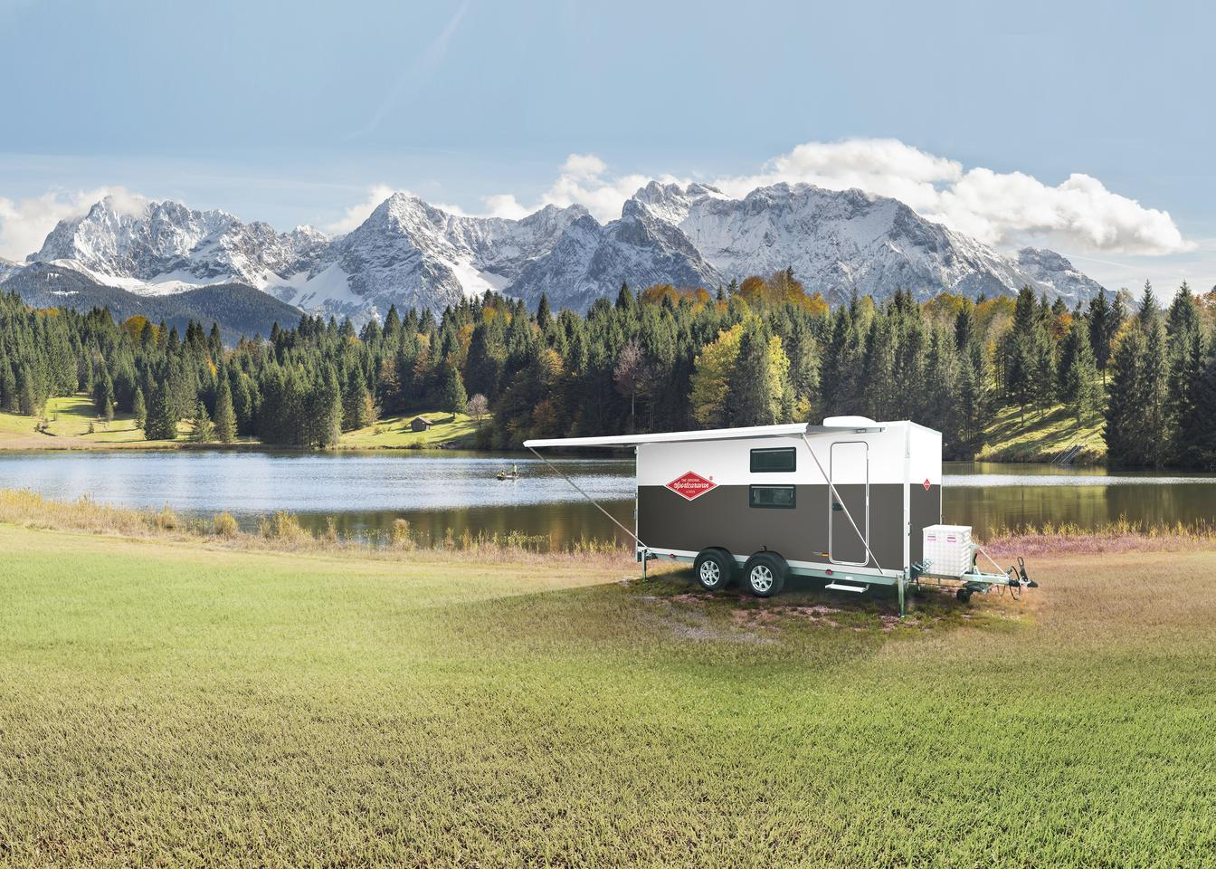 Sportcaravan attempts to create the ultimate combo of comfy camper and capable toy hauler