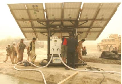 Clean water from MMP units helps keep communities healthy and adds to soldiers' safety