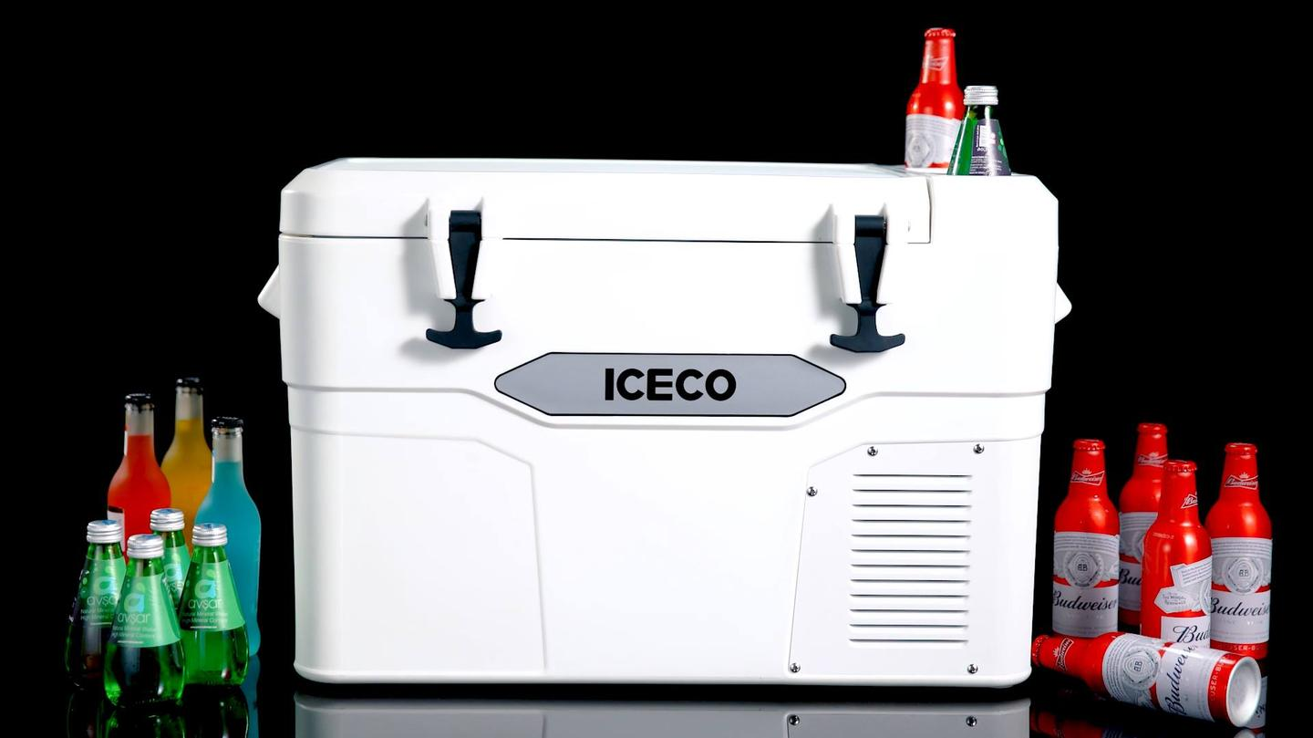 It looks like a basic cooler from the front, but the Iceco iCooler is also a fridge/freezer