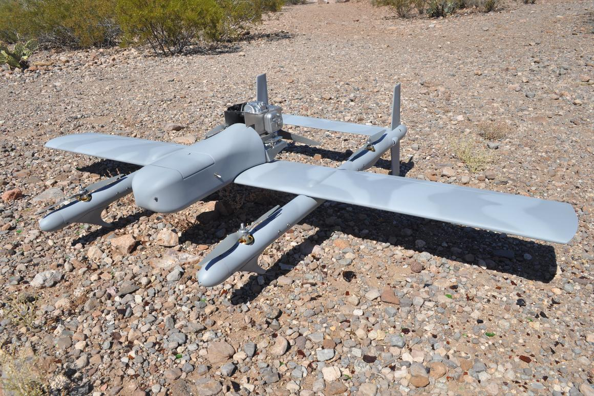 Whaddaya get when you cross a quadcopter with a plane? The