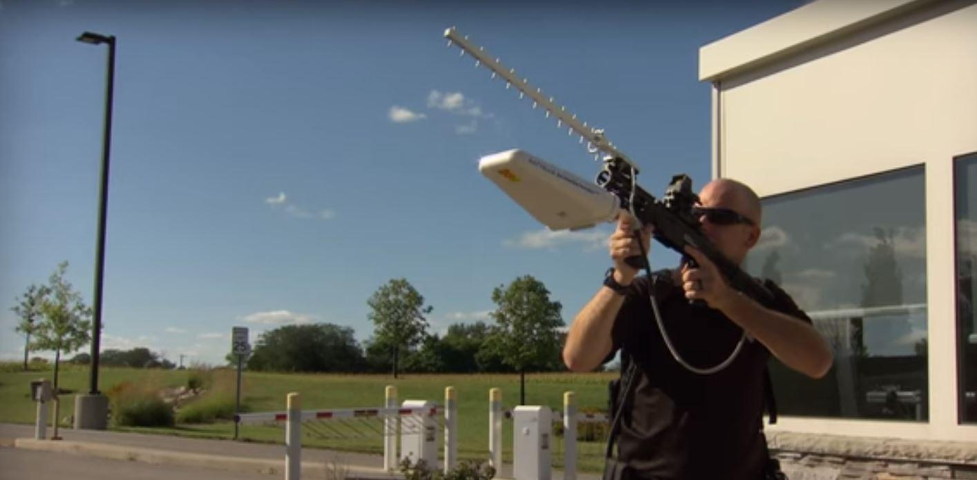 The Battelle DroneDefender is a portable anti-UAV beam weapon