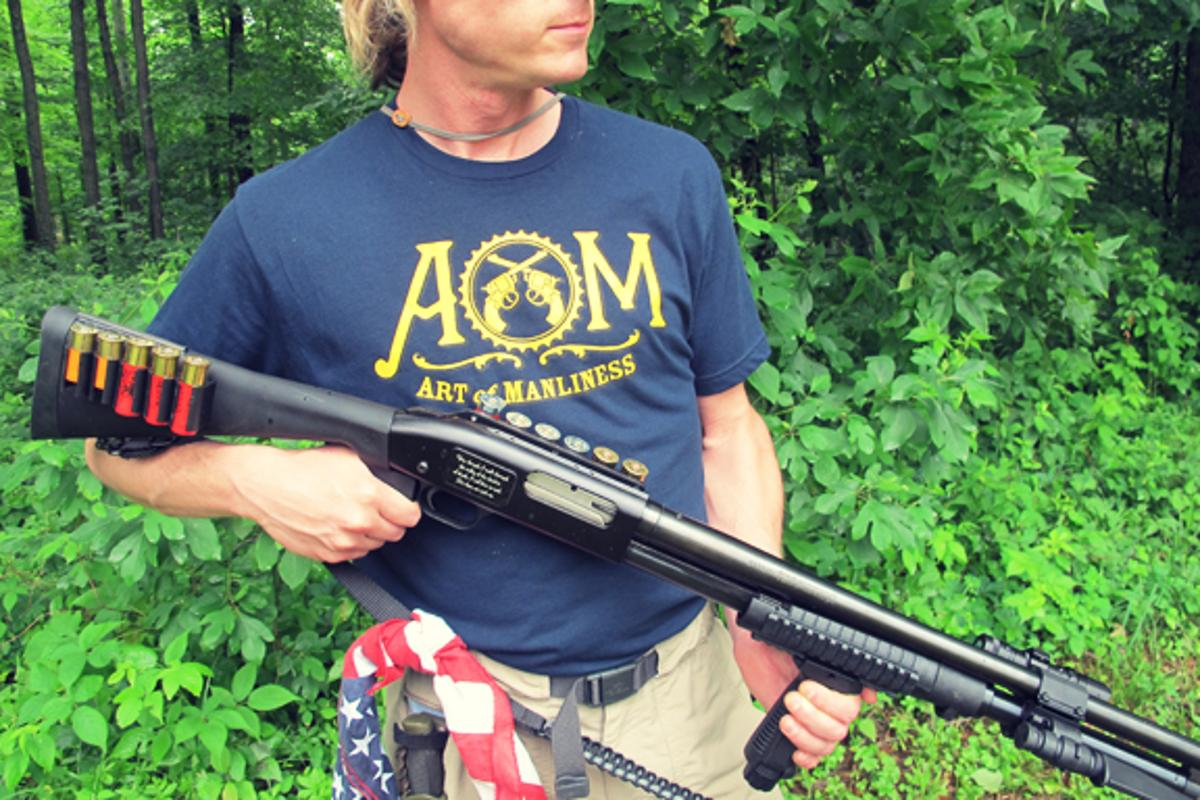 Creek Stewart has built a shotgun that makes for a pefect survival tool (Photo: Creek Stewart)