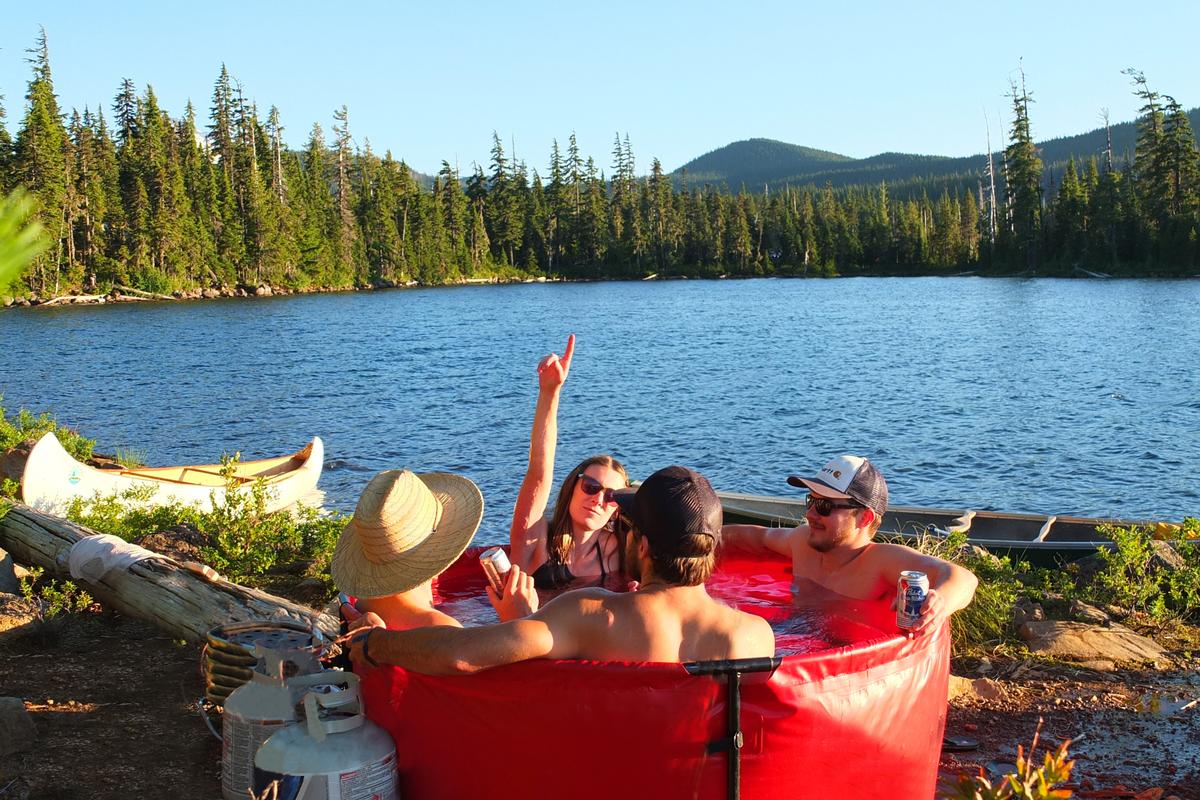 The Nomad hot tub, by Portland, Oregon-based company The Original Nomad