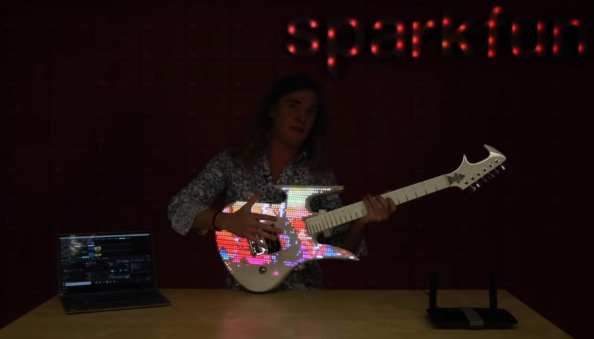 An already rare custom guitar made one-of-a-kind by Sparkfun's Andy England