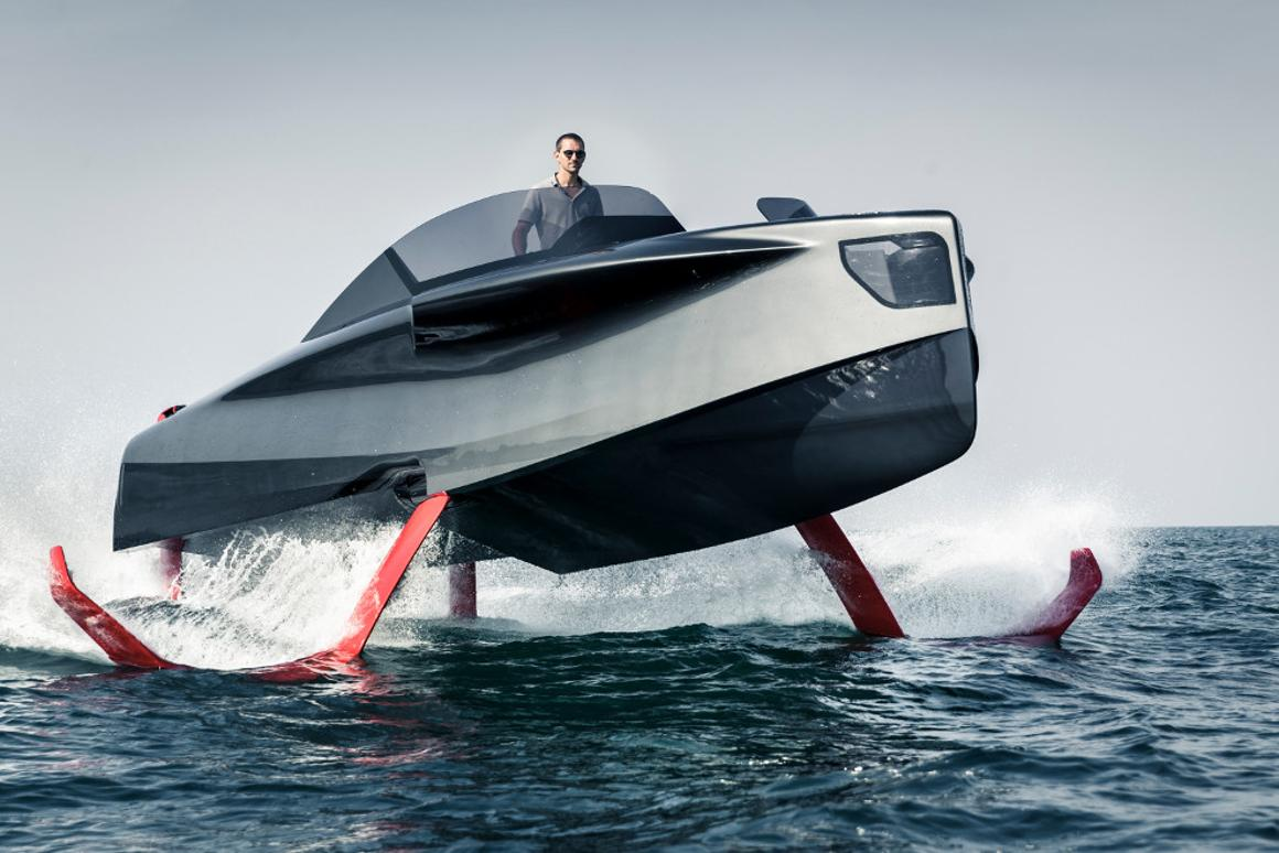 The Foiler is the latest hybrid electric luxury yacht / hydrofoil fusion incorporates an interesting diesel-electric propulsion system