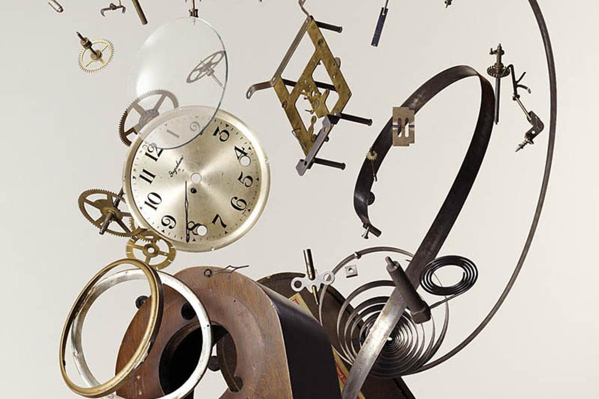 Exploding effect mantlepiece clock (Photo: Todd McLellan/Thames & Hudson)