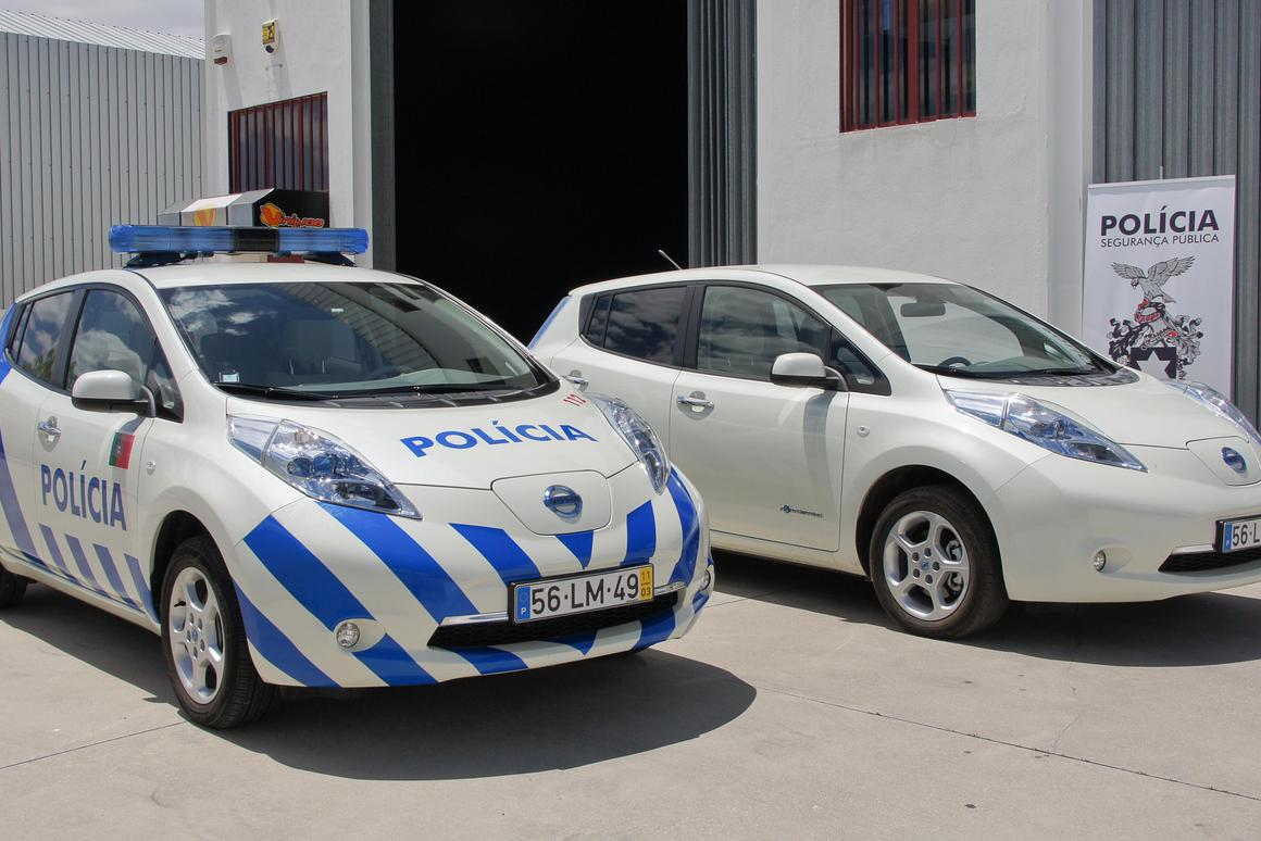 Portugal now has a fleet of eight Leaf police cars