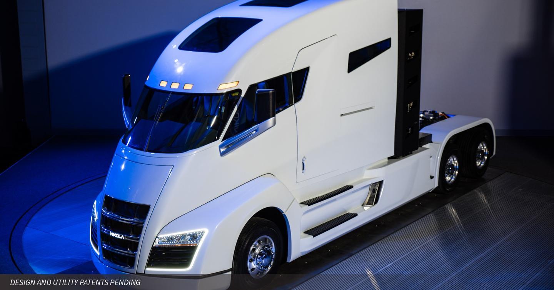 Model of Nikola Motors' first hydrogen truck, the Nikola One