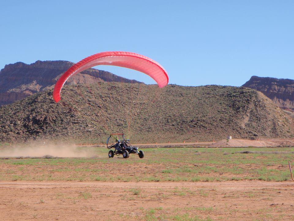 The SkyRunner taking off