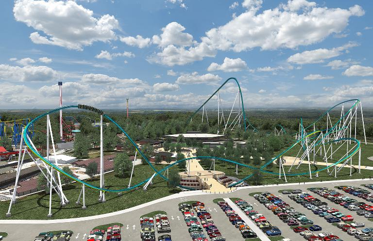 Fury 325 is a new roller coaster that will open this month at Carowinds in North Carolina
