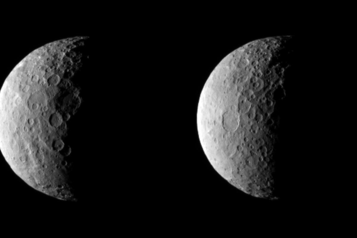 Ceres from 25,000 mi (40,000 km) away (Image: NASA/JPL-Caltech/UCLA/MPS/DLR/IDA)