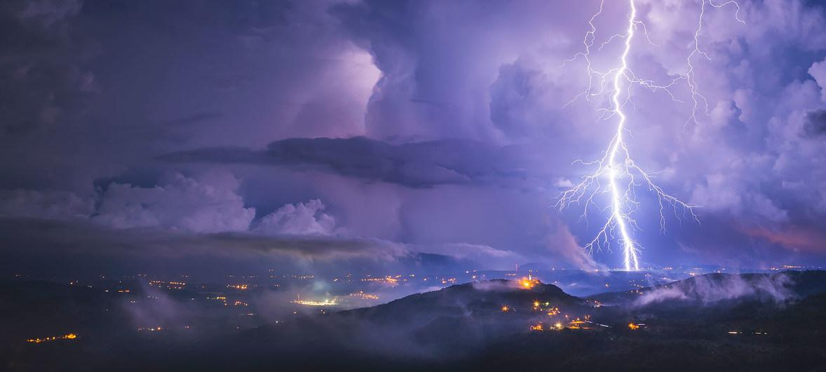 A lightning storm in Croatia – new records have just been set in South America for the longest lightning bolts in recorded history, by time and distance