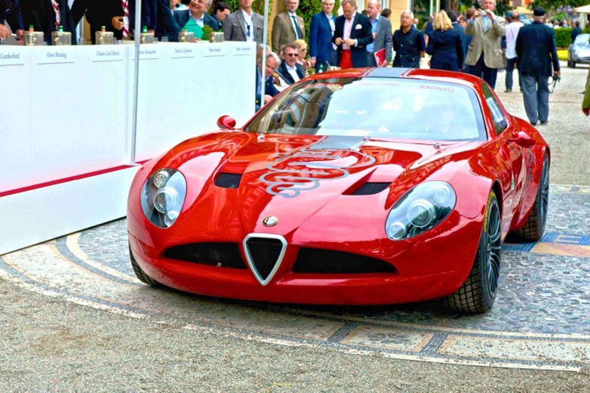 The Alfa Romeo TZ3 Corsa was officially unveiled at the 2010 Concorso d'Eleganza Villa d'Este.