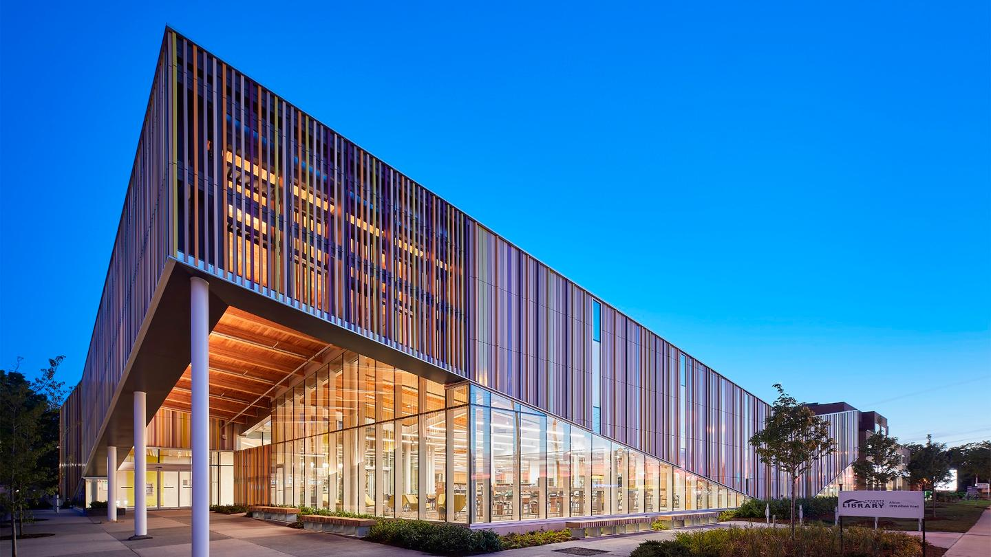Albion Public Library was designed by Perkins + Will