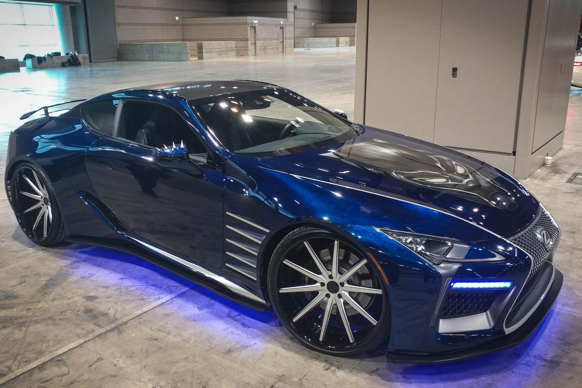 What would an auto show be without some movie promos from automakers like this Lexus from the Black Panther film?