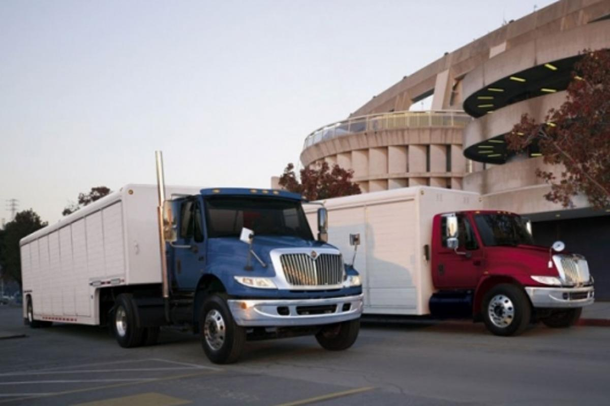 The International DuraStar at the Hybrid Truck Users Forum in South Bend, Ind.