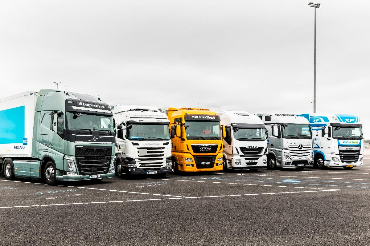 DAF, Daimler, Iveco, MAN, Scania and Volvo all participated in the EU Truck Platooning Challenge