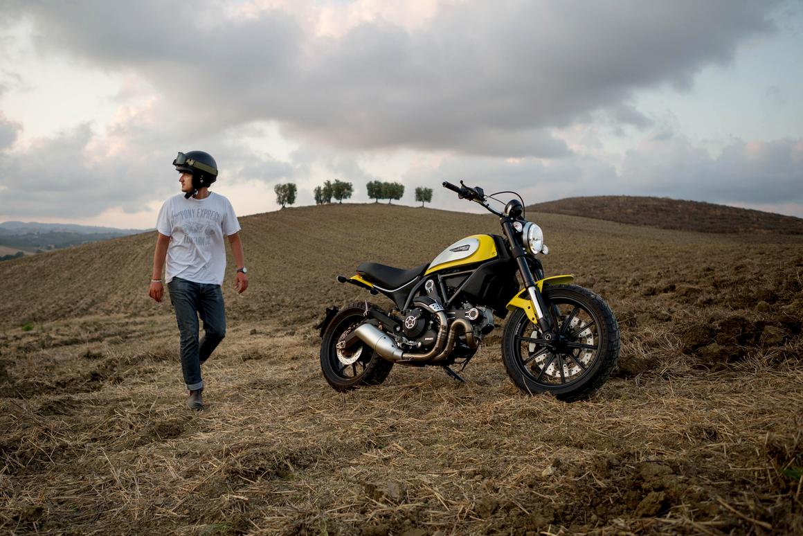 Ducati Scrambler goes great in and around hay
