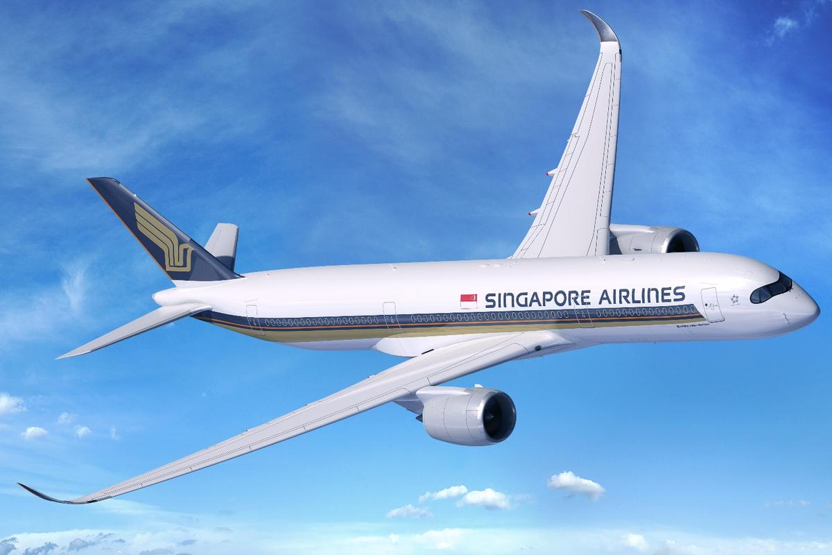 Computer rendering of the Airbus A350-900ULR in Singapore Airlines livery that is set to claim the world's longest commercial passenger flight route in 2018
