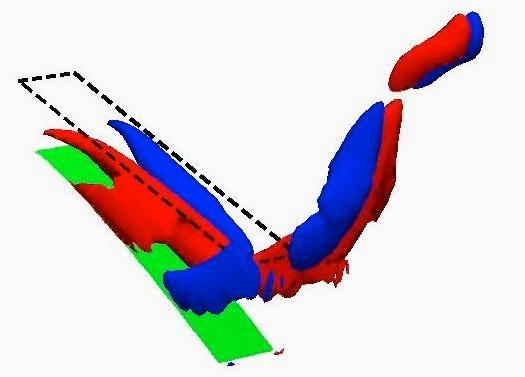 A still from a computer animation illustrating Alexeev and Masoud's model (Image: Georgia Tech)